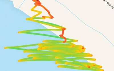 It was a good day on the water. You can see the red line where I crash and give up cause I'm too tired. ?