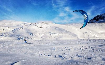 Snow kiting season is on